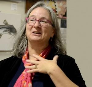 Anora McGaha at a book reading in North Carolina