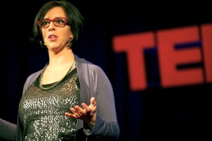 Jill Salzman speaking at a TED Talk