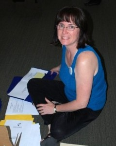 US Author Elaine Klonicki Preparing Conference Materials
