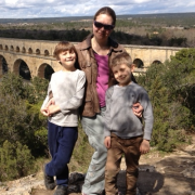 Dr Hannah Thompson and her sons