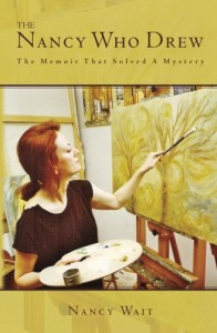 "The cover of Nancy Wait's book, ""The Nancy Who Drew,"" which features an image of Nancy Wait painting."